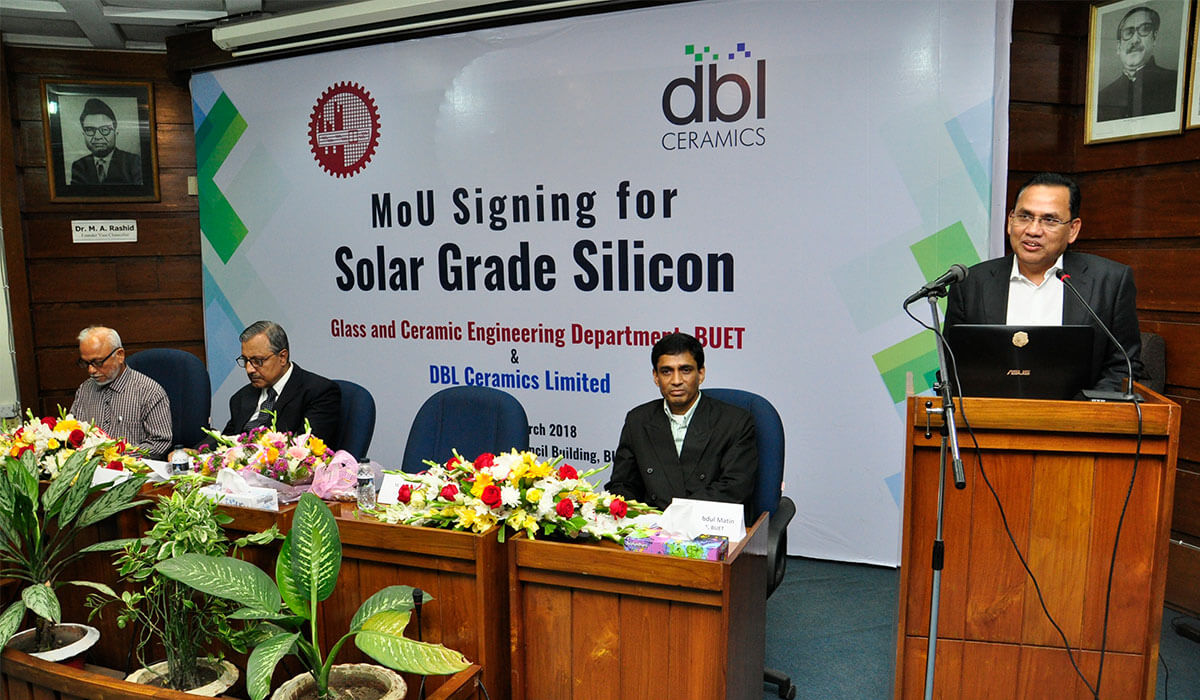 Mr. M. A. Jabbar, Managing Director of DBL group gives his speech.