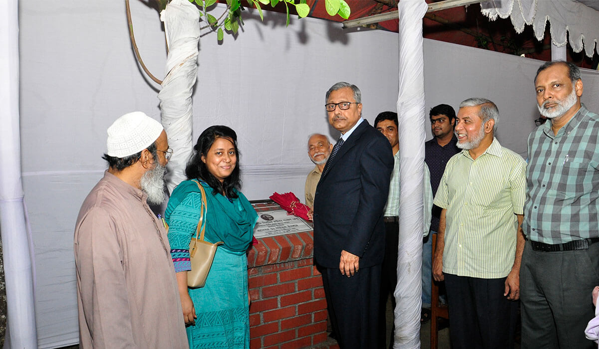 Foundation stone opened by Honorable Vice Chancellor Prof. Saiful Islam